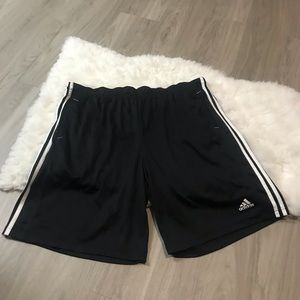 Adidas Black White Drawstring Shorts Size 2x